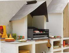 Un coin barbecue-rangement - Bricolage avec Robert Backyard Patio Designs, Pottery Studio, Barbacoa, Back Gardens, Grilling, Barbecues, Coin, House, Gardening
