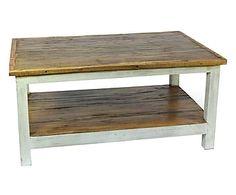 Tavolino da caffe' in legno riciclato marrone chiaro - 90x45x60 cm