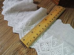 Cotton Embroidery, Lace Lace, Garment Accessories, Cloth, DIY Clothing, Skirt Decoration, White Cotton, Wide 10CM 116