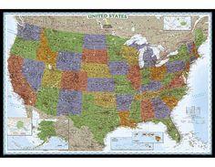 #blackfriday #blackfridaysale #blackfridaydeals Large and Laminated Decorator Map of USA