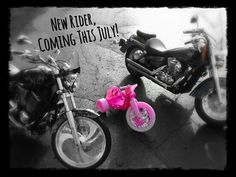Motorcycle baby gender reveal photo!
