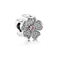 Sparkling Apple Blossom, Blush Pink Crystal & Clear CZ - Pandora