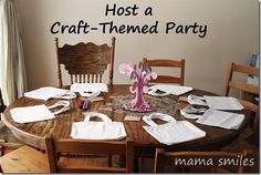 Host a craft themed birthday party! This post features fun activities for both boys and girls.