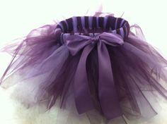 Purple tutu, too cute.