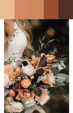 Our favorite color schemes of 2018 Church Wedding Flowers, Fall Wedding Bouquets, White Wedding Flowers, Wedding Color Schemes, Wedding Colors, Modern Centerpieces, May Weddings, Spring Flowers, Favorite Color