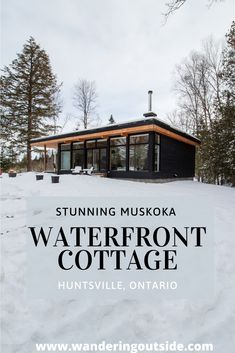 Private, waterfront property on the Muskoka River - Wolegib Cottage - Wandering Outside – Explore. Waterfront Cottage, Lake Cottage, Waterfront Homes, Cottage House Plans, Small House Plans, Cottage Homes, Lake Cabins, Cabins And Cottages, Muskoka Cottages