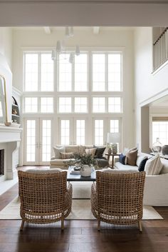 Home Renovation Inspiration - Tour the big living spaces of our Cove Remodel! Living Room Designs, Living Room Decor, Living Spaces, Living Rooms, Living Room Windows, Estudio Mcgee, Home Renovation, Home Remodeling, Home Interior