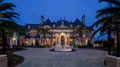 Oh my gosh yes, I love the driveway!! Maybe with a bigger fountain or something more pronounced in the middle of the turn around, and a darker stone?