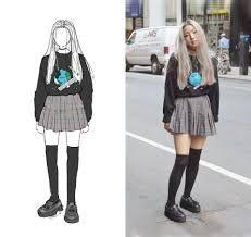 Картинки по запросу green plaid skirt look