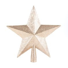 Decorative shatterproof Christmas topper in the shape of a star, 20 cm. The topper is champagne with glitter. Made of unbreakable plastic. Can be perfectly combined with all our other glitter ornaments.