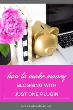 The Easiest Way To Make Money With Your Blog: Just One Wordpress Plugin! This is so easy! Why haven't I tried this sooner to monetize my blog?! Pin now.