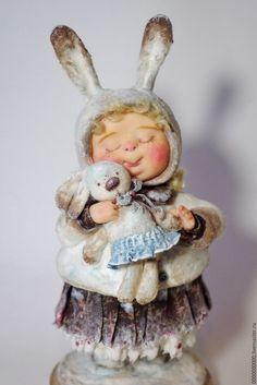 """Рождественский подарок"""" - рождество,  коллекционная кукла, коллекционные игрушки, новогодний подарок"""