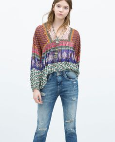 PRINTED TOP-Tops-TRF | ZARA United States