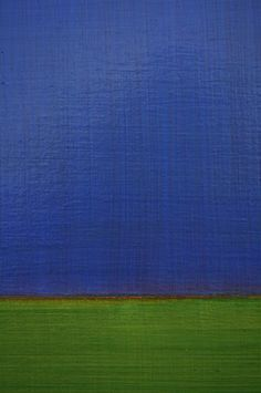 Leora Armstrong, Blue Field, 2006, Oil on linen, 40x30 in.