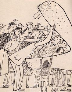 Roger Duvoisin (1900 – 1980) - Swiss-born American writer and illustrator. illustration, drawing, art, design, modern, mid-century, retro, vintage, children, picture, book, veronica
