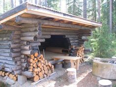 Laavu, a traditional Finnish shelter any passerby may use.