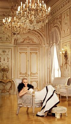 .This photo of Princess Charlene was taken at Monaco Palace