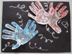 Handprint Fireworks: 4th of July Crafts for Kids