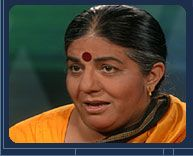 Dr. Vandana Shiva, with her philosophy of science degree to stop all GE around the world and continue to allow her Indians slather on old, highly toxic pesticides to get some food grown.  Such a humanitarian!