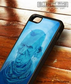 iPhone cases for 5, 5s and SE, Blue Africa artwork protective stylish phone cases surreal turquoise white portrait phone art. muddpuppie art by MuddpuppieDesigns on Etsy