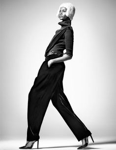 silk velvet pants with suspenders by Giorgio #Armani.