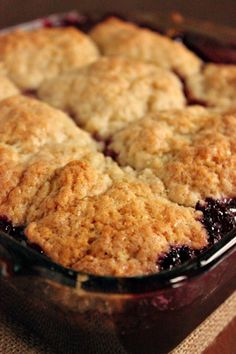 Cobblers are perfect for family reunions because they can be served buffet style. #Cherry #Cobbler