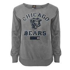 Chicago Bears Juniors Flashdance Off-the-Shoulder Sweatshirt - Gray - $35.99