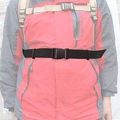 Universal Fit Backpack Waist Belt Backpack Waist Strap  Black NO BACKPACK * Click on the image for additional details.