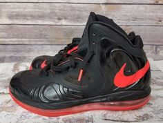 Mens 2013 Nike Air Max Hyperposite Black Bright Crimson Foamposite Shoes  Size 11  Nike   2e2307d91e6