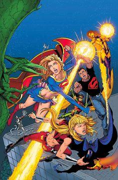 Supergirl, vol. 2: Girl of Steel, ch. 2: Girl Power (Part II of V) - Teen Titans