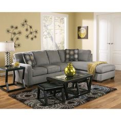 Zella - Charcoal Contemporary Sectional Sofa with Left Arm Facing Chaise by Signature Design by Ashley Furniture at Sam's Appliance & Furniture Chaise Sofa Living Room, Ashley Furniture, Living Room Furniture Sofas, Furniture, Contemporary Living Room Sofa, Living Room Sectional, Home Decor, Living Room Furniture, Modern Couches Living Room