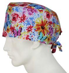 XL Surgical Caps Fall Bloom - surgicalcaps.com