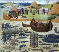 Alexander the Great and Les chevaliers poissons and the rest of the parallel, underwater world Medieval Times, Medieval Art, Medieval Manuscript, Illuminated Manuscript, Philippe Le Bon, Renaissance, Alexandre Le Grand, Monster Hunt, Old Best Friends