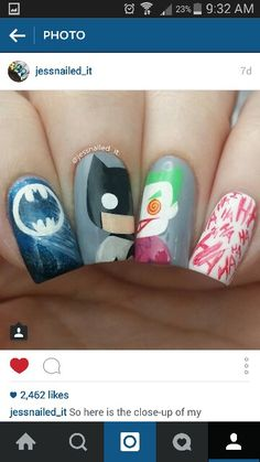 Batman joker nails