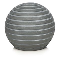 Large image of Wilko Get Outdoors Decorative Ribbed Ball Grey Medium - opens in a new window