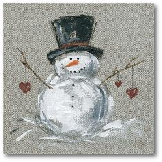 Courtside Market Winter Snowman II 16 X 1 5 Framed Wrapped Canvas Multi Christmas Wood, Christmas Signs, Christmas Projects, Christmas Snowman, Christmas Ornaments, Primitive Christmas, Country Christmas, Painted Windows For Christmas, Christmas Trees