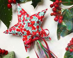 Liberty print Luxe Christmas wand