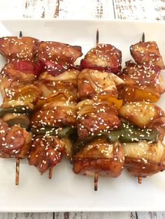 Teriyaki Chicken Skewers in the Oven - It's Everything Delicious Chicken Skewers In Oven, Teriyaki Chicken Skewers, Oven Chicken, Marinated Chicken, Chicken Drumsticks, Skewer Recipes, Asian Recipes, Yummy Recipes, Keto Recipes