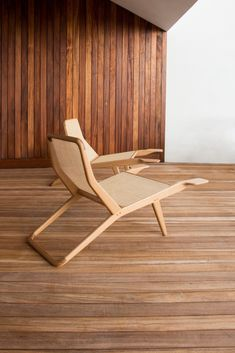 Lounge chair BARCA by branca-lisboa Lounge Chair Design, Lounge Furniture, Unique Furniture, Wood Furniture, Furniture Design, Bamboo Sofa, Cafe Chairs, Dinner Chairs, Deco Design