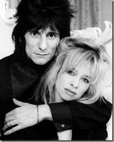 Rolling Stones' Ronnie Wood with his wife, Jo <3