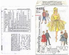 Free Copy of Pattern - Simplicity 4422