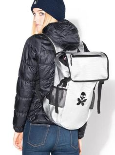 cc625f9367d0 Betty Designs Jett Pak v.2 Silver Edition Backpack with Skull Butterfly  Betty Design