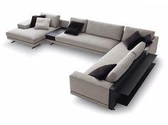 Descarga el catálogo y solicita al fabricante Mondrian   sofá de esquina By poliform, sofá tapizado de tela de esquina con chaiselongue diseño Jean-Marie Massaud, Colección mondrian