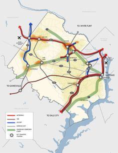 Fairfax County Proposed High Quality Transit Network Concept Map