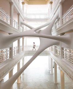 Elastika Installation, by Zaha Hadid (R.I.P.), Moore #Building, #Miami, #Usa, Paul Octavious, . . . . . #modernarchitect #architect…