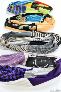 Récupérer des T-Shirts pour en faire des foulards tube! Écharpes tube - Trucs et Astuces - Trucs et Bricolages