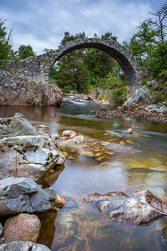 Old Packhorse Bridge in Carrbridge, Scotland