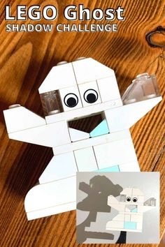 Build a LEGO ghost for Halloween and explore shadow science! A fun LEGO activity themed just right for halloween! Lego Halloween, Halloween Science, Halloween Activities For Kids, Homemade Halloween, Holiday Activities, Early Learning Activities, Lego Activities, Building For Kids, Lego Building