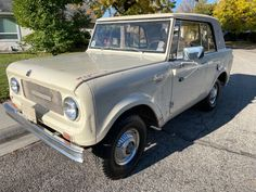 With only 2,579 examples built, this 1966 International Harvester Scout CS is a rare classic that would make a satisfying restoration project. #ChampagneSeries, #InternationalHarvester, #Scout