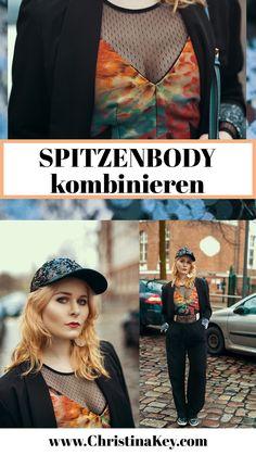 Outfit Inspiration: Spitzenbody kombiniert mit Satin Top, Sneaker und Cap - Das besonders coole Outfit mit dem Du zum Hingucker wirst! // Jetzt weitere Looks auf CHRISTINA KEY entdecken - dem Mode-, Fotografie-, Rezepte- und Lifestyle Blog aus Berlin